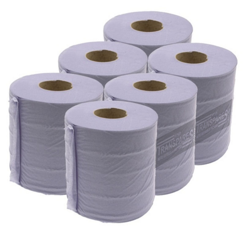 Blue Centrefeed Roll 6 Pack 150mm