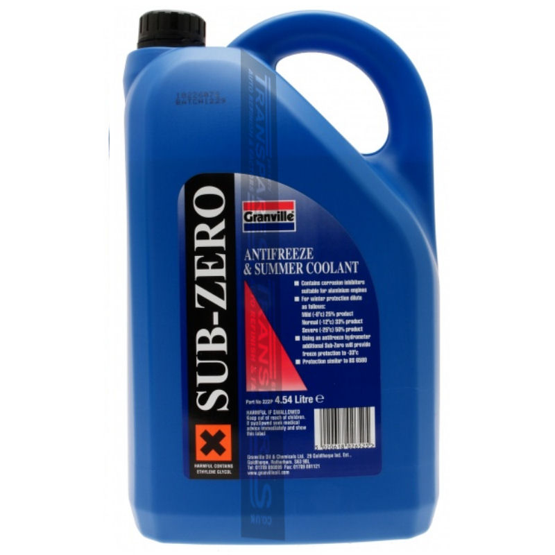 Granville Blue Anti Freeze 4.54L Concentrated