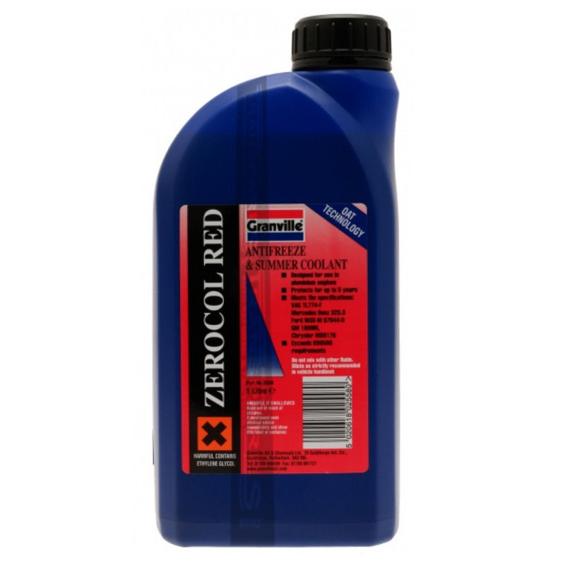 Granville Red Anti Freeze 1L Concentrated