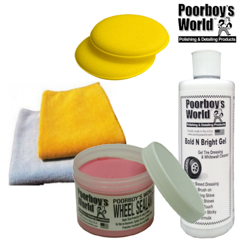 Poorboys wheel Sealant & Poorboys Bright & Bold Tire Gel