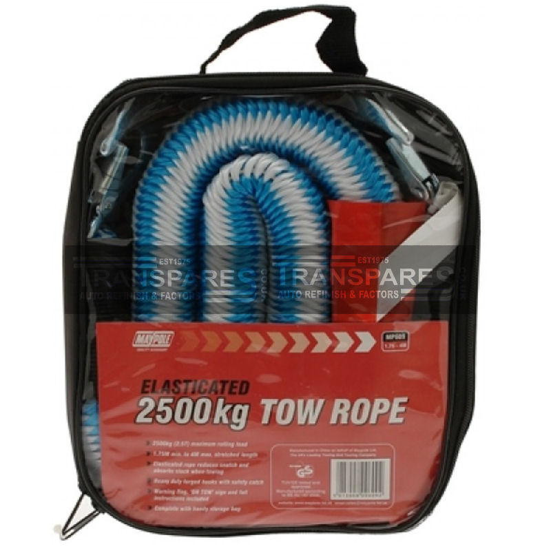 Maypole 2500kg Tow Rope Elasticated