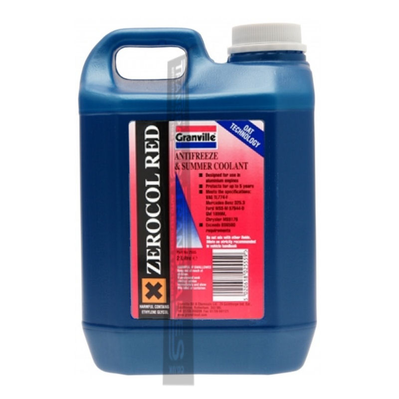 Granville Red Anti Freeze 2L Concentrated
