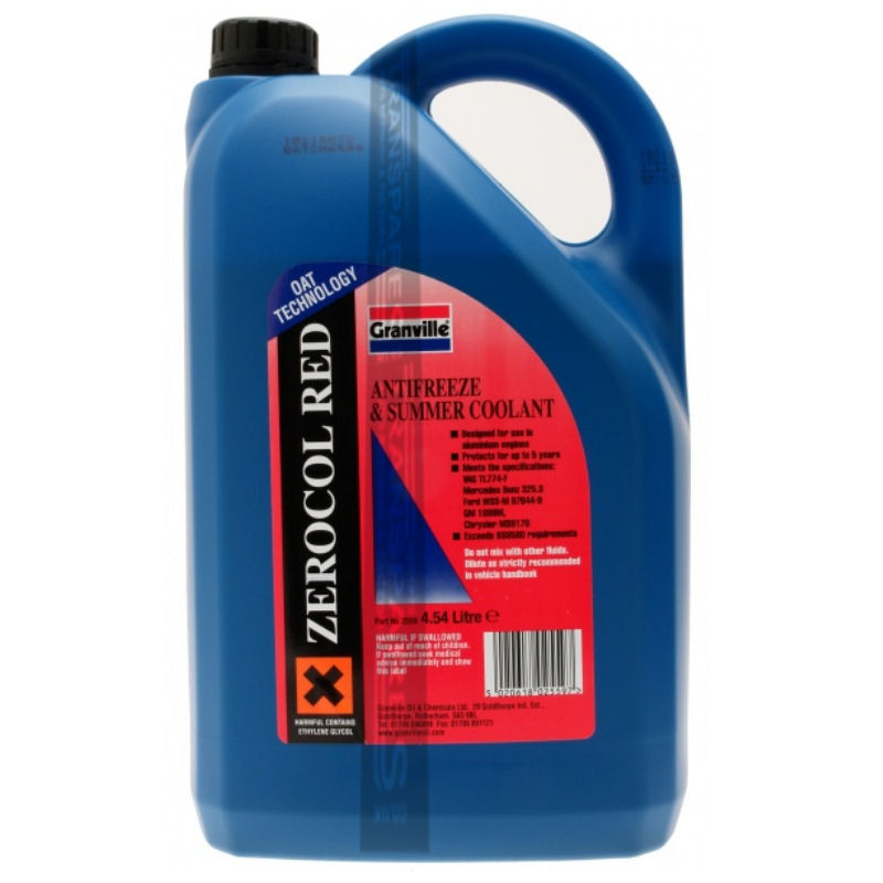 Granville Red Anti Freeze 4.54L Concentrated