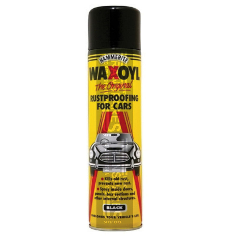 Hammerite Waxoyl Aerosol Can Black 400ML