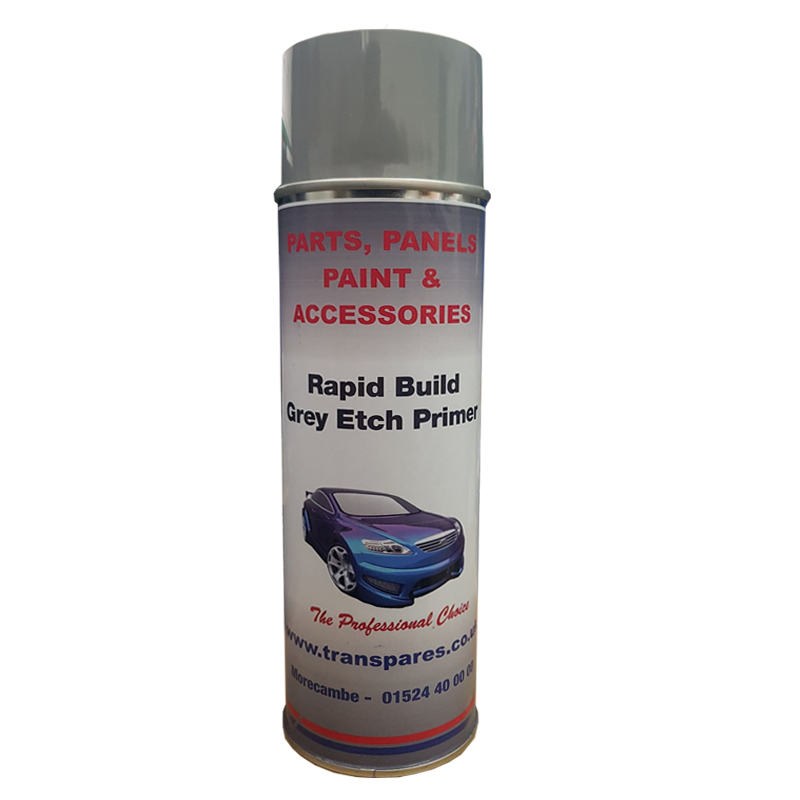 Transpares Rapid Build Grey Etch Primer Aerosol (500ml)